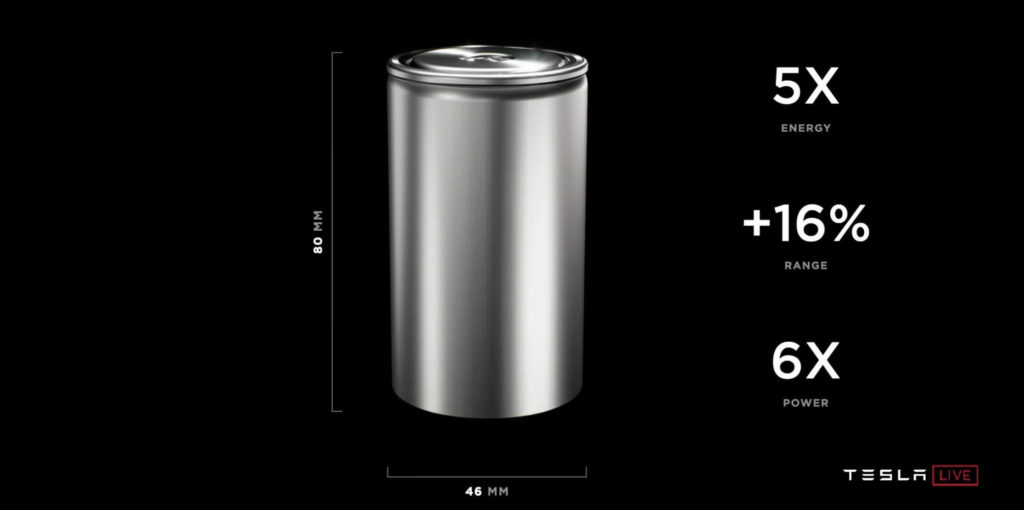 Die neue Zelltechnologie wurde an Teslas Battery Day vorgestellt. Sie hat mehr Reichweite und mehr Power als ihr Vorgänger.