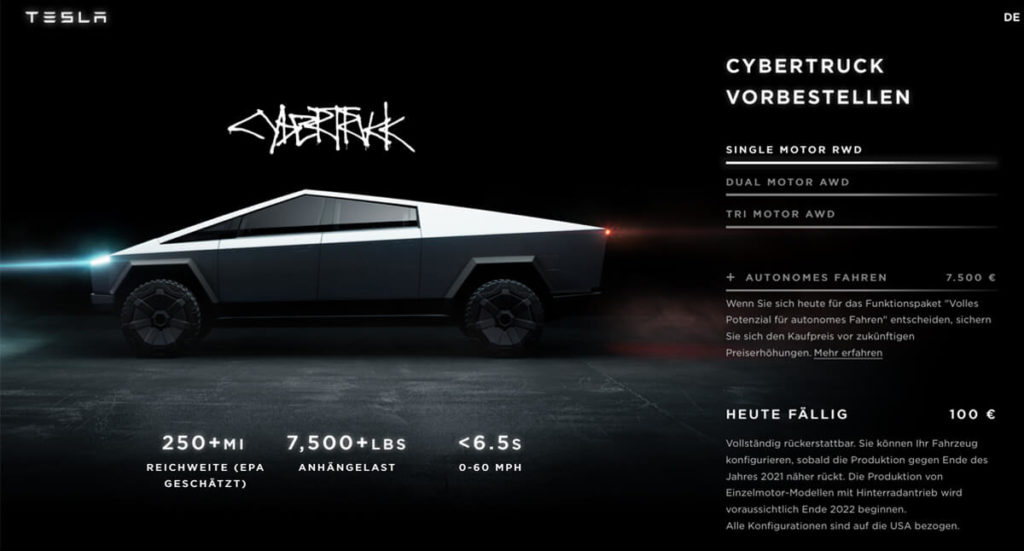 Tesla Cybertruck Deutschland