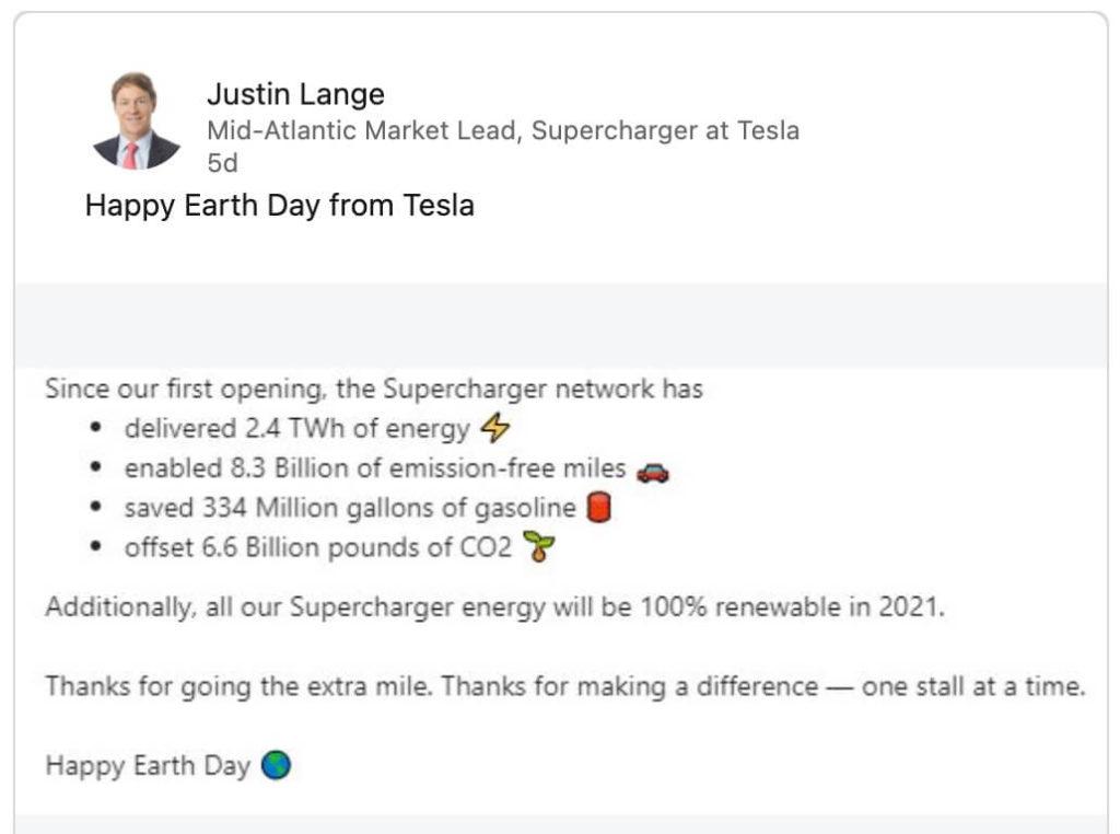 Tesla und Umwelt: Supercharger 2021 nur noch mit erneuerbarer Energie