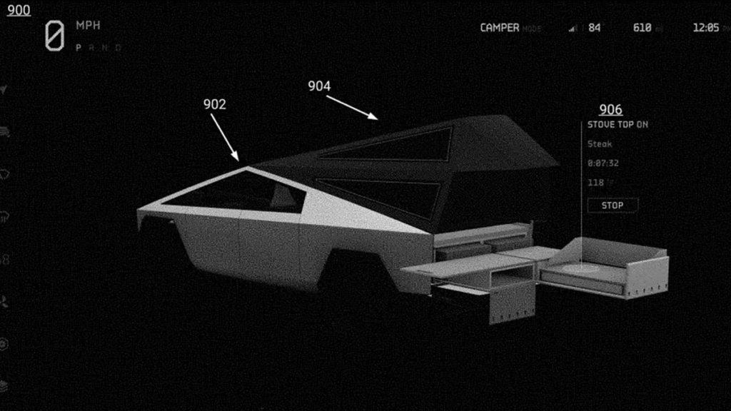 Tesla Cybertruck mit Camper-Küche