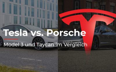Tesla Model 3 vs. Porsche Taycan: Wer macht das Rennen?
