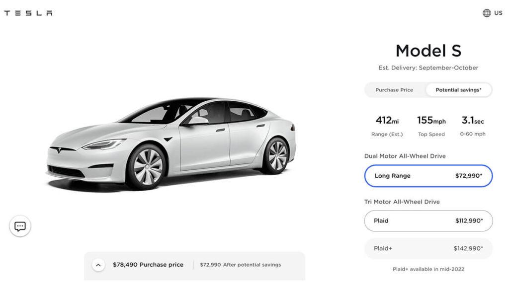 Model S Plaid+ in Amerika bereits nicht mehr bestellbar