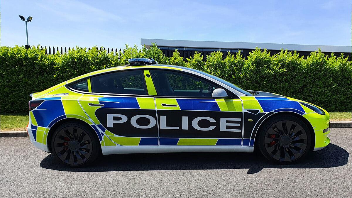 Tesla baut Model-3-Streifenwagen für die Polizei