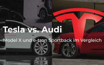 Kampf der Top-SUVs: Tesla Model X vs. Audi e-tron Sportback