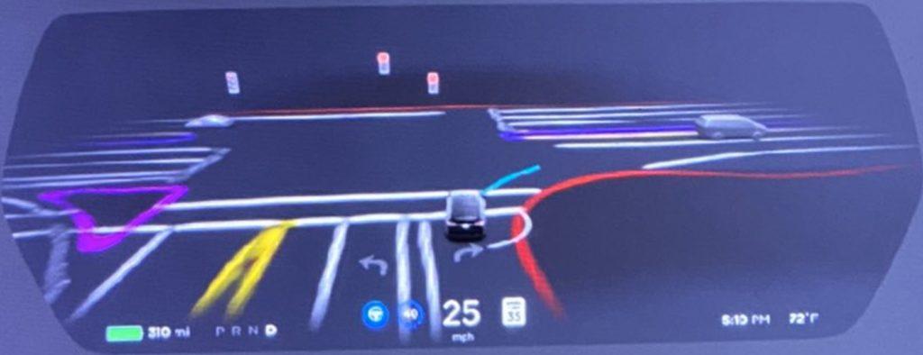 So sieht die neue Autopilot Ansicht in Tesla Model S und Model X aus