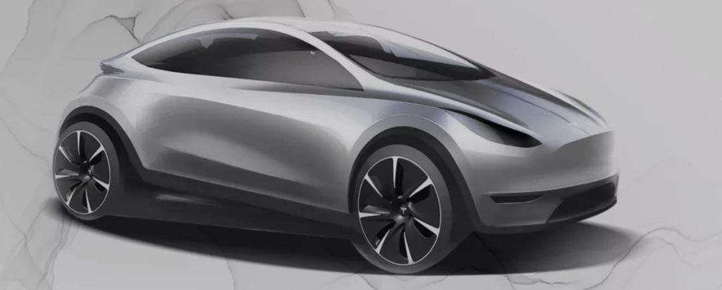 Erste Designentwurf des Tesla Model 2