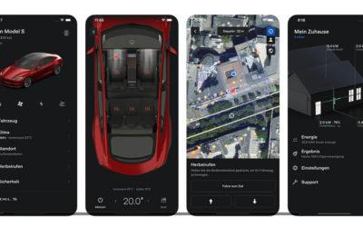 Tesla-App erhält Update: neue Funktionen und verbesserte Oberfläche