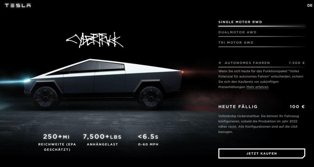 Tesla Cybertruck: Produktion erst 2022